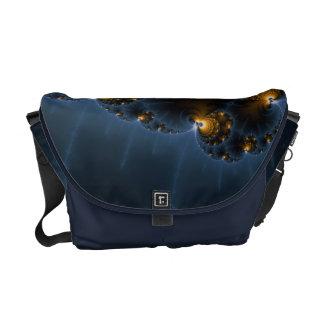 Night Prowler Fractal Art Messenger Bag