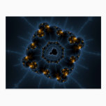 Night Prowler Fractal Art Postcard