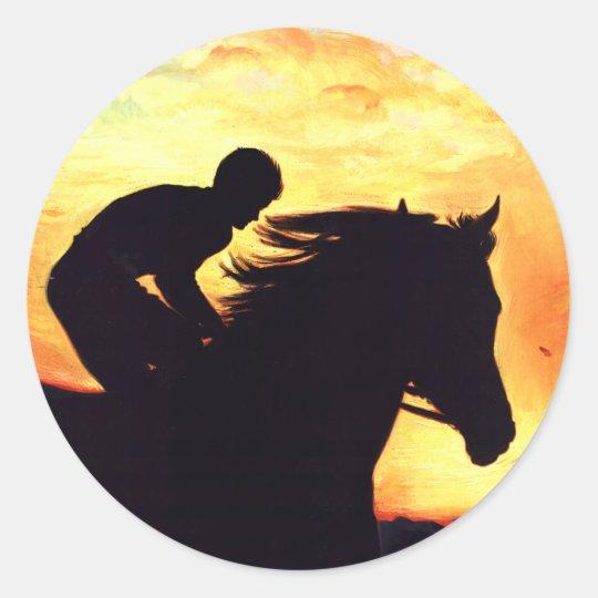 Night Race! Classic Round Sticker