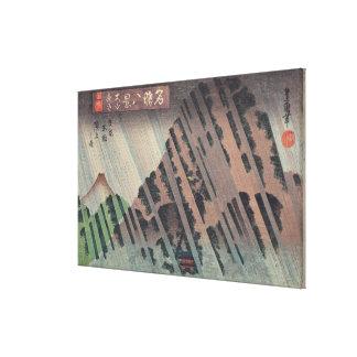 Night Rain on Oyama, c.1830 Canvas Print