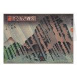 Night Rain on Oyama, c.1830 Cards