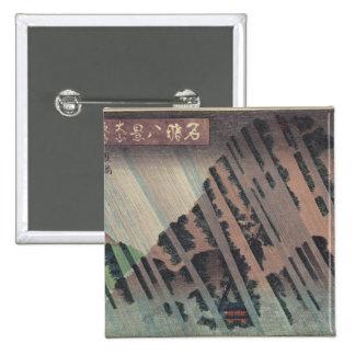 Night Rain on Oyama, c.1830 Pinback Button