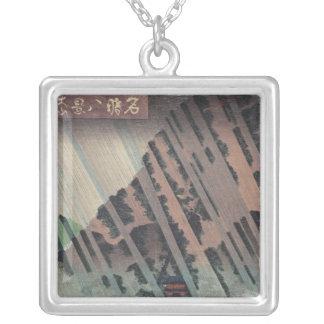 Night Rain on Oyama, c.1830 Silver Plated Necklace