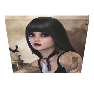 Night Raven Canvas Print
