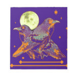 Night Ravens Goth moon by Sharles Memo Note Pad