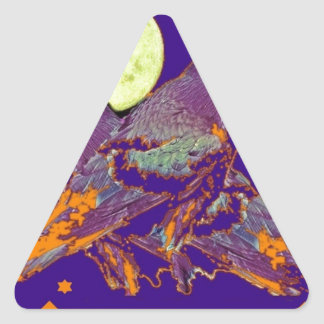 Night Ravens Goth moon by Sharles Triangle Sticker