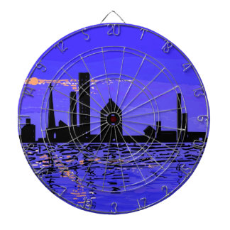 Night Reflections on multiple products Dartboard With Darts