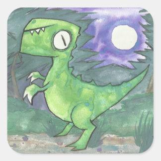 NighT-rex Square Stickers