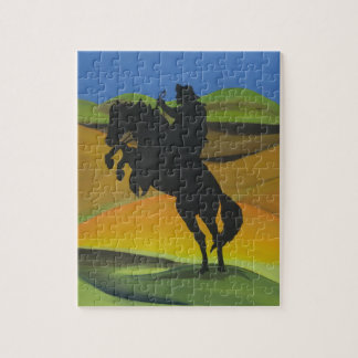 Night Rider - Cowboy riding a horse Puzzle