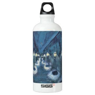 Night road by Walter Gramatte Aluminum Water Bottle