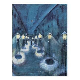 Night road by Walter Gramatte Postcard