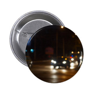 Night road in the city with abstract motion blur o 2 inch round button
