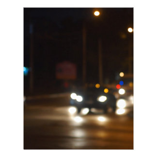 Night road in the city with abstract motion blur o letterhead