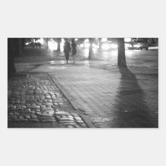 Night Romance - Central Park East - New York City Rectangular Sticker