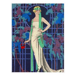 Night Rose by George Barbier Postcard