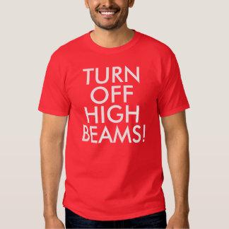 Night Running/Walking Shirt: Turn Off High Beams! Tees