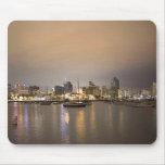 Night San Diego Sailboats Skyline Mouse Pad