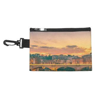 Night Scene at Tiber River Rome Cityscape Accessory Bag