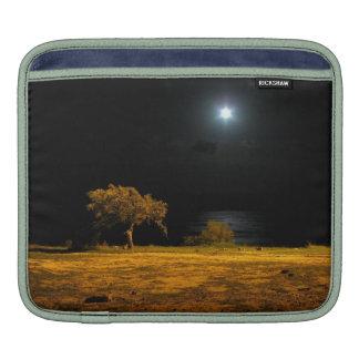 Night scene by the riverside iPad sleeves