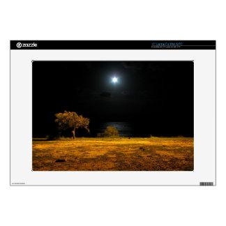 Night scene by the riverside skin for laptop
