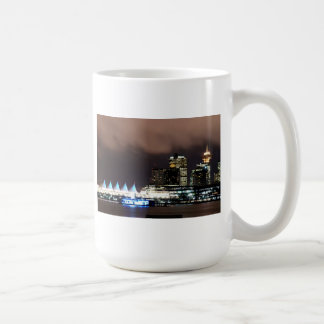 Night scene of downtown Vancouver Coffee Mugs