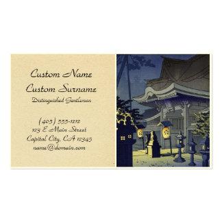 Night Scene of Kitano Shrine Asano Takeji Business Card