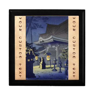 Night Scene of Kitano Shrine Asano Takeji Jewelry Box