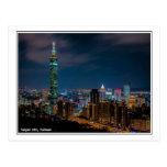 Night Scene of Taipei 101, Taiwan Postcard