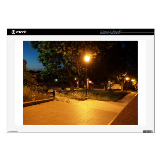 Night scene of the city laptop skins