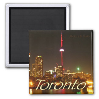 Night Scene Toronto Canada Souvenir Fridge Magnet