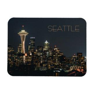 Night Seattle Magnet