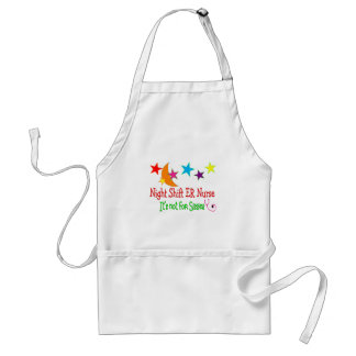 "Night Shift ER NURSE ""It's Not For Sissies"" Adult Apron"