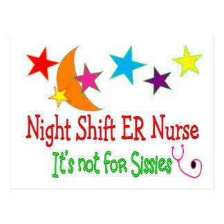 "Night Shift ER NURSE ""It's Not For Sissies"" Postcard"