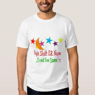 "Night Shift ER NURSE ""It's Not For Sissies"" Tee Shirt"