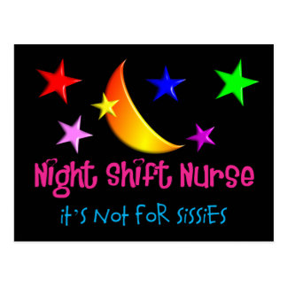 "Night Shift Nurse ""It's Not For Sissies"" Postcard"