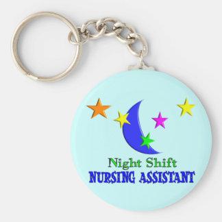 Night Shift Nursing Assistant Basic Round Button Keychain