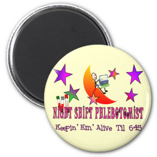 NIght Shift Phlebotomist T-Shirts and Gifts Magnet