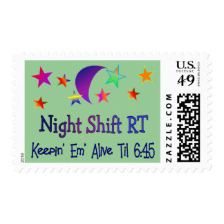 Night shift RT--Funny Respiratory Therapy Gifts Postage