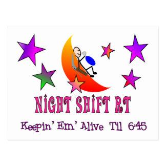 Night Shift RT MOON Stick Man Postcard