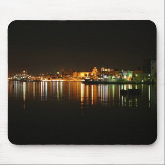 Night shot in Brindisi Puglia Italy Mouse Pads