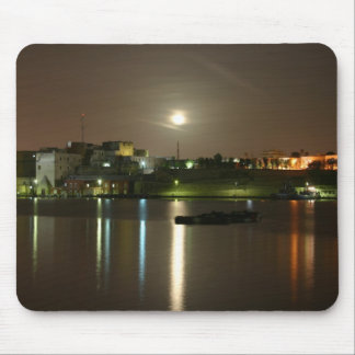 Night shot in Brindisi Puglia Italy Mouse Pad