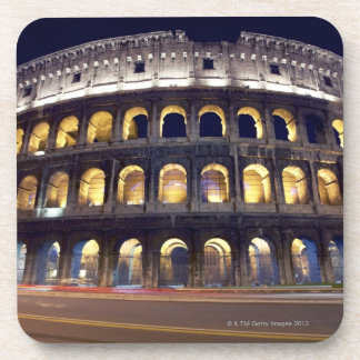 Night shot of Colosseum Beverage Coaster