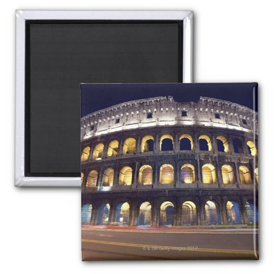 Night shot of Colosseum Magnet