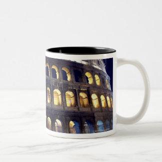 Night shot of Colosseum Two-Tone Coffee Mug
