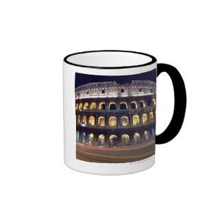 Night shot of Colosseum Ringer Coffee Mug