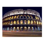 Night shot of Colosseum Postcard