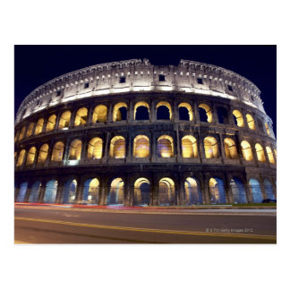 Night shot of Colosseum Postcard