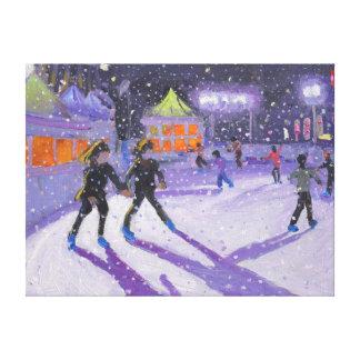 Night skaters Derby 2014 Canvas Print