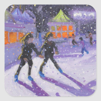 Night skaters Derby 2014 Square Sticker