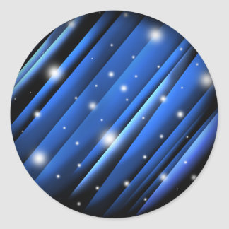 Night Sky Abstract Classic Round Sticker
